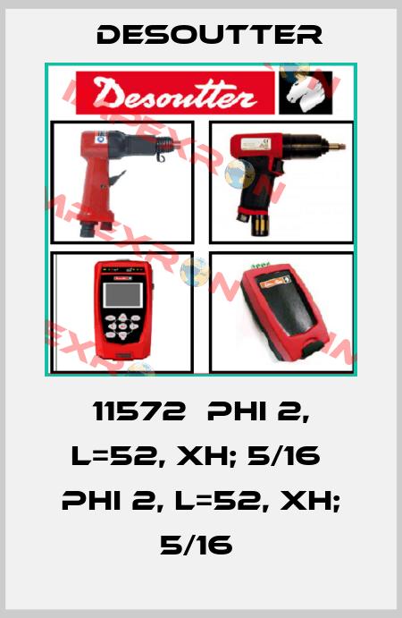 Desoutter-11572  PHI 2, L=52, XH; 5/16  PHI 2, L=52, XH; 5/16  price