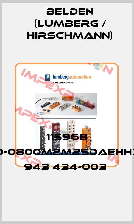 HIRSCHMANN (Belden)-115968 RS20-0800M2M2SDAEHHXX.X.  943 434-003  price