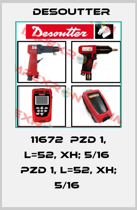 Desoutter-11672  PZD 1, L=52, XH; 5/16  PZD 1, L=52, XH; 5/16  price