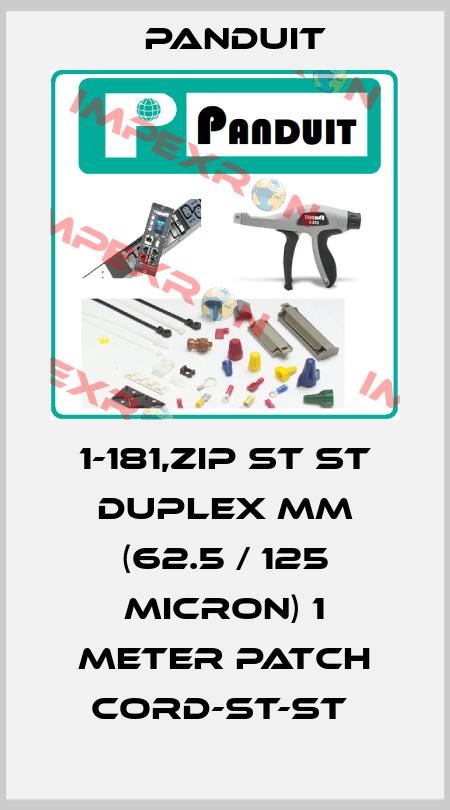 Panduit-1-181,ZIP ST ST DUPLEX MM (62.5 / 125 MICRON) 1 METER PATCH CORD-ST-ST  price