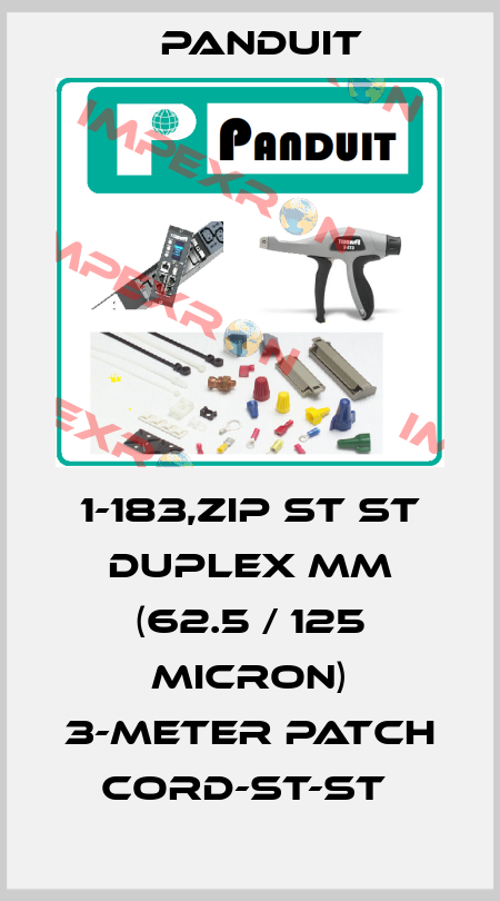 Panduit-1-183,ZIP ST ST DUPLEX MM (62.5 / 125 MICRON) 3-METER PATCH CORD-ST-ST  price