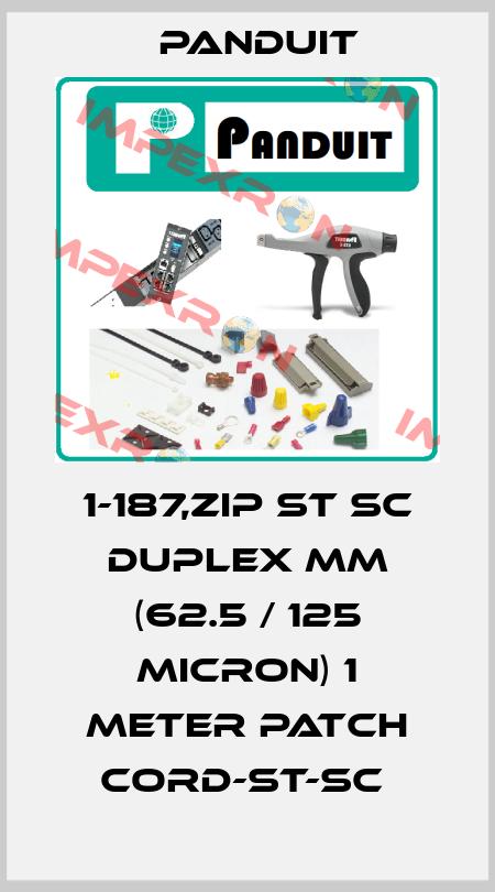 Panduit-1-187,ZIP ST SC DUPLEX MM (62.5 / 125 MICRON) 1 METER PATCH CORD-ST-SC  price