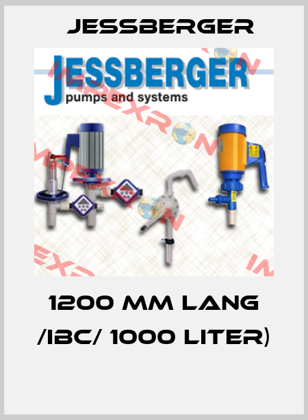 Jessberger-1200 MM LANG /IBC/ 1000 LITER)  price