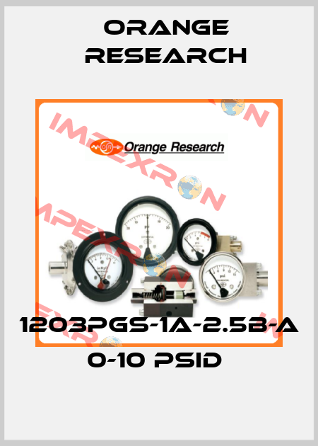 Orange Research-1203PGS-1A-2.5B-A 0-10 PSID  price