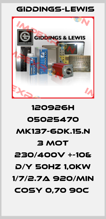 Giddings-Lewis-120926H 05025470 MK137-6DK.15.N 3 MOT 230/400V +-10& D/Y 50HZ 1,0KW 1/7/2.7A 920/MIN COSY 0,70 90C  price