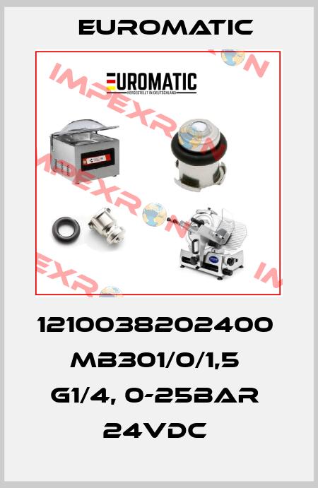 Euromatic-1210038202400  MB301/0/1,5  G1/4, 0-25BAR  24VDC  price